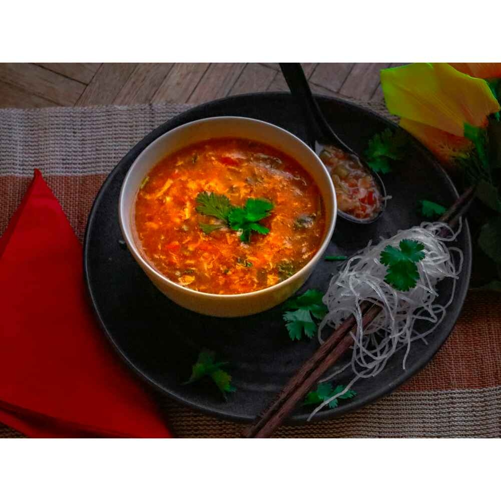 How to make Hot n sour chicken soup