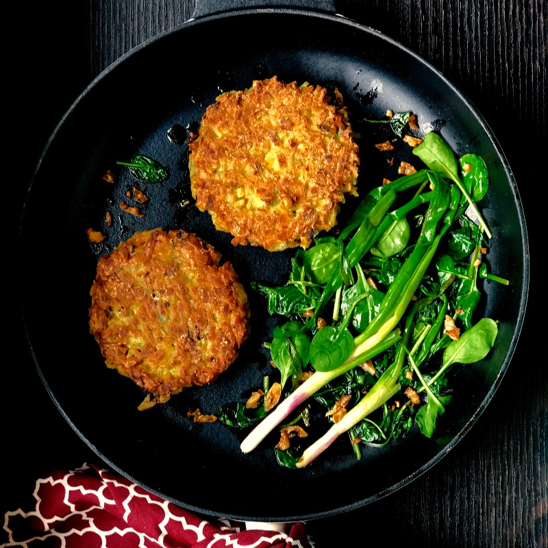 Photo of Sweet Potato Rosti with Garlic Butter Greens !!  by Priti Mohta at BetterButter