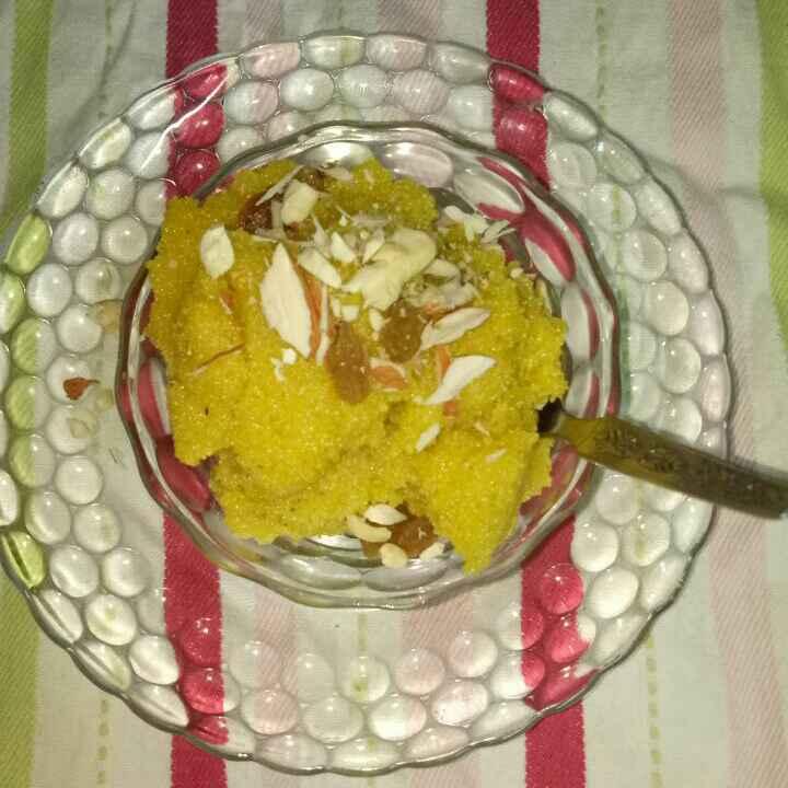 How to make केशर बदाम रवा शिरा