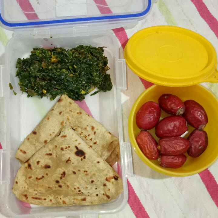 Photo of Methi onion sabji nd nagli chapati by priya Asawa at BetterButter