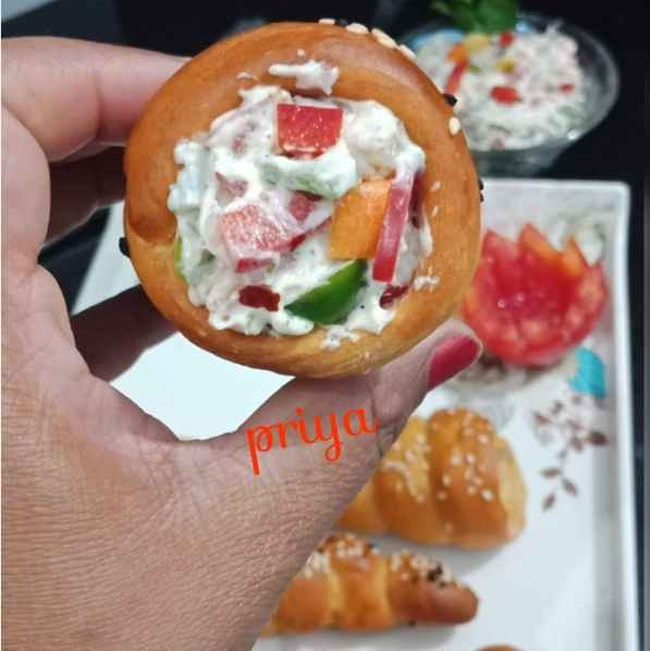 How to make Baked Bread Cones in Cooker