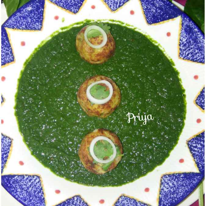 Photo of Palak(spinach) With non fry stuffed Kofta by Priya Garg at BetterButter