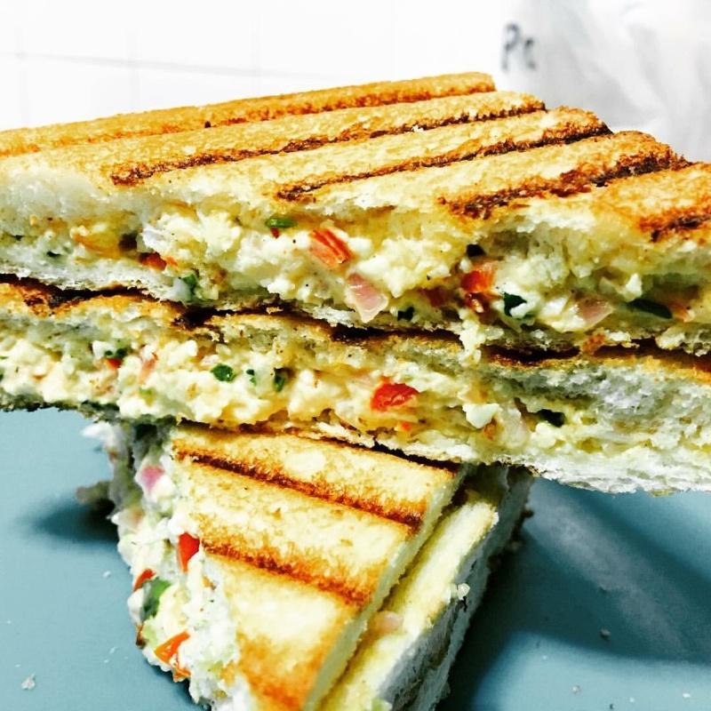 How to make Cream cheese paneer sandwich