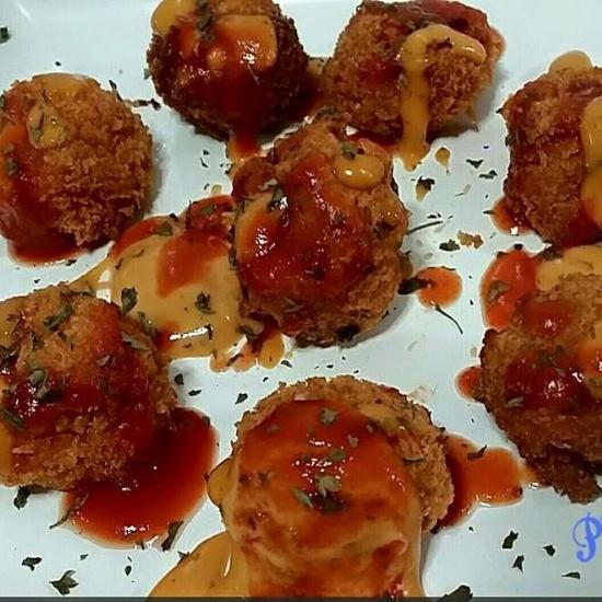 Photo of Cheesy rice fritters by Priya Mani at BetterButter