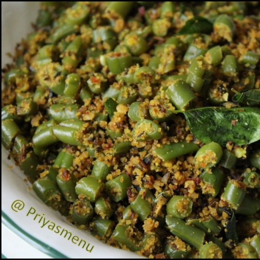Photo of Diet Friendly Beans Parupu Usuali by Priya Satheesh at BetterButter