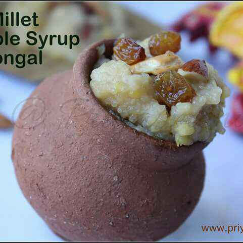 How to make Millet Maple Syrup Pongal