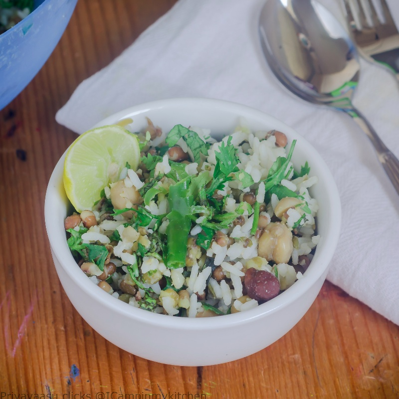How to make Mixed Beans and Rice Salad