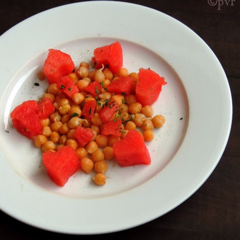Photo of Watermelon & Chickpeas Salad by Priya Suresh at BetterButter