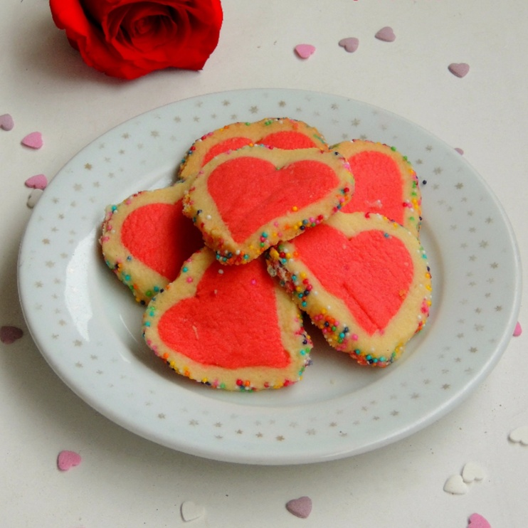 How to make Sprinkles Crusted Valentine Heart Cookies
