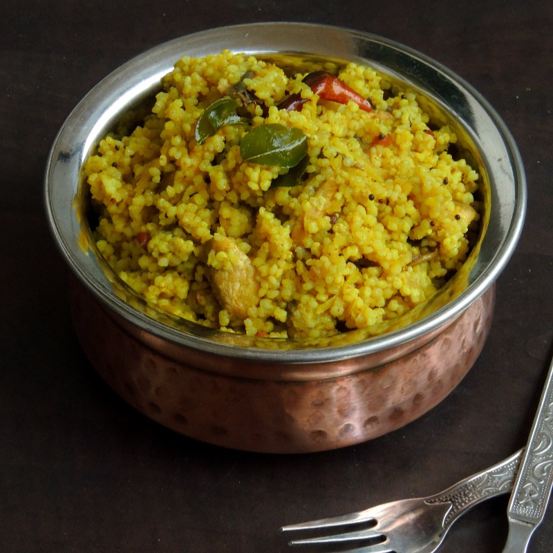 Photo of Raw Mango & Mushroom Kodomillet Rice by Priya Suresh at BetterButter
