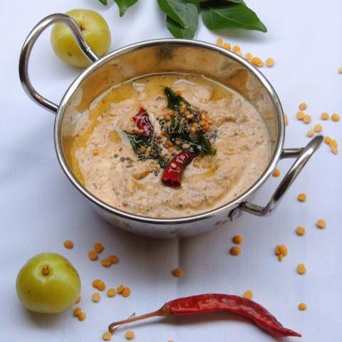 How to make Usirikaya Perugu Pachadi/Gooseberry Yogurt Chutney