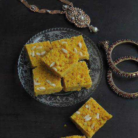 Photo of Boondi Pak/Boondhi Pak/Sweet Boondi Squares by Priya Suresh at BetterButter