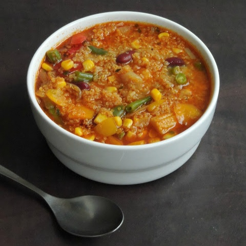 Photo of Vegan Mixed Vegetables & Kidney Beans Quinoa Soup by Priya Suresh at BetterButter