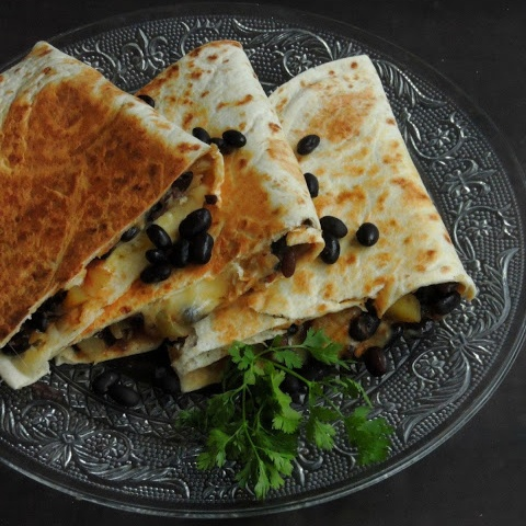 How to make Cheesy Black Beans & Potato Quesadillas