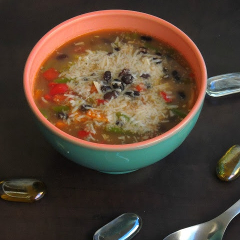 How to make Cheesy Black Bean Soup