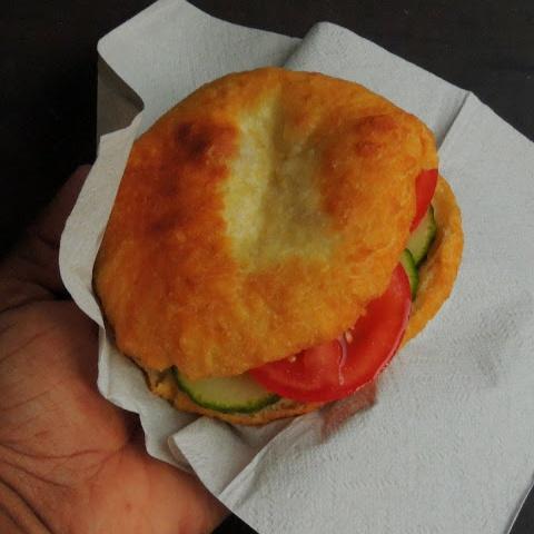 How to make Le Bokit/Guadeloupean Fried Bread Sandwich/Bokit