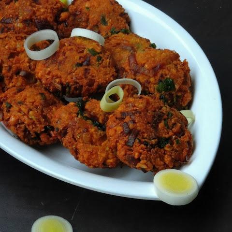 How to make Leek Masal Vada/Leek Channadal Fritters