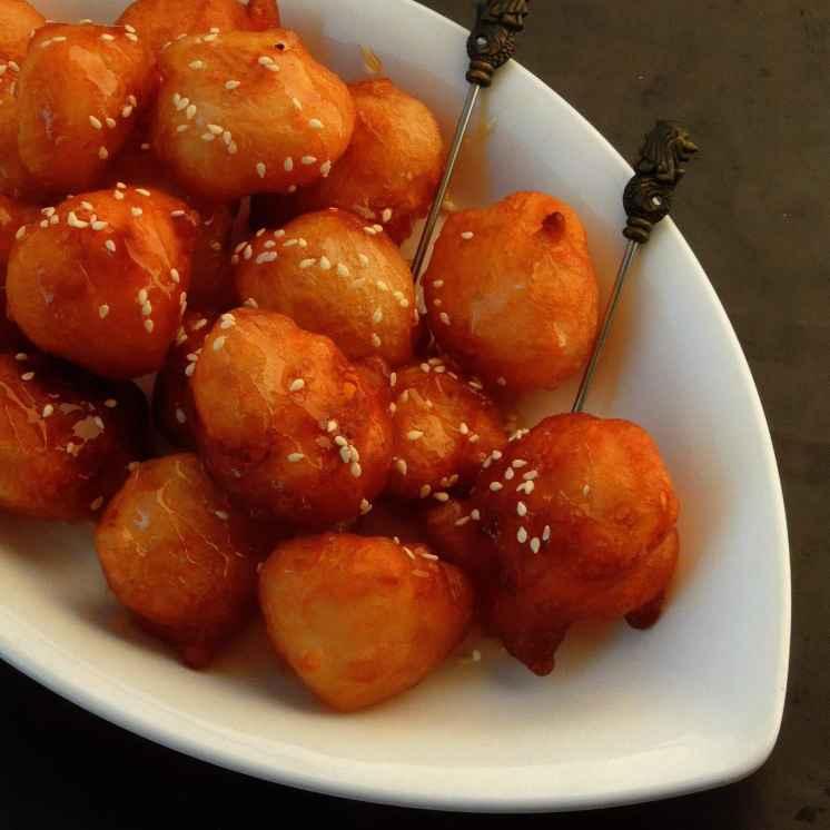 Photo of Luqaimat/Arabic sweet dumplings by Priya Suresh at BetterButter
