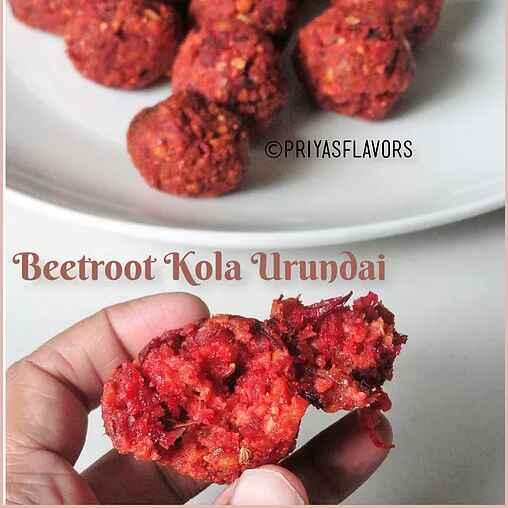 Photo of Beetroot Kola Urundai/ Beetroot Balls by Priya Tharshini at BetterButter