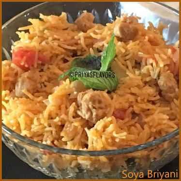 Photo of Soya Chunks Briyani by Priya Tharshini at BetterButter