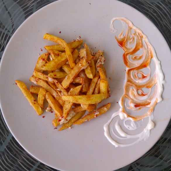 How to make Chilli cheese french fries