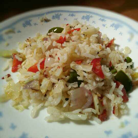 How to make Mix vegetables herb rice