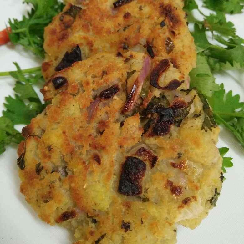 Photo of Baked poha, raw banana and potato cutlet by Priyanjali Joardar at BetterButter