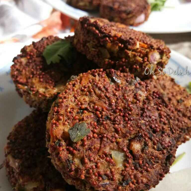 How to make Sprouted ragi chicken cutlet