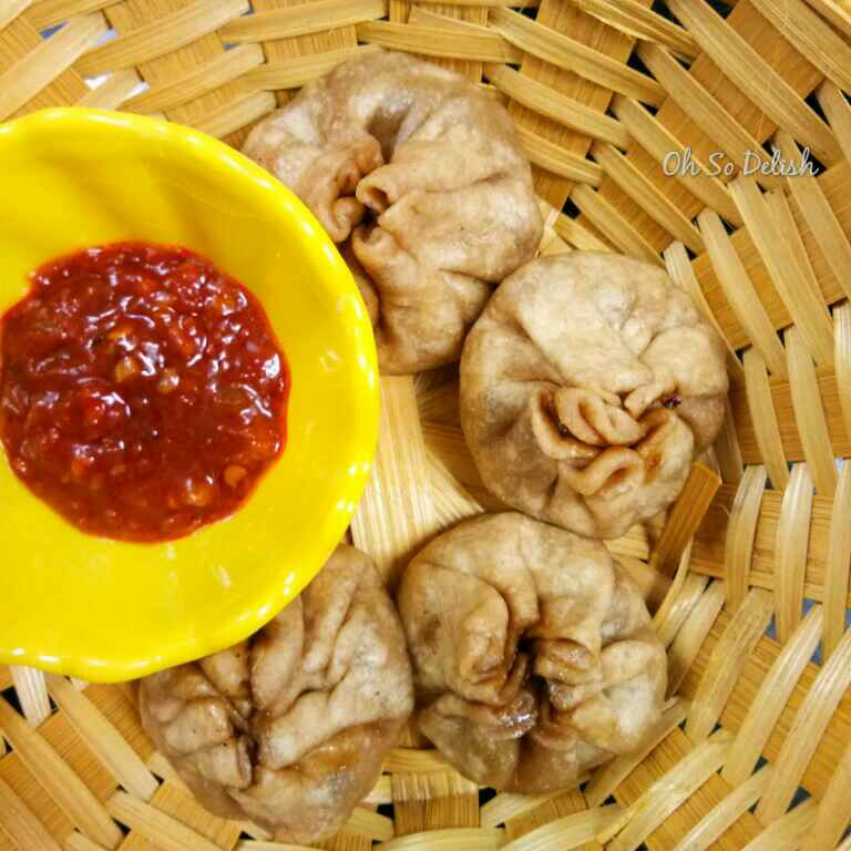 How to make Corn and mushroom wheat momo