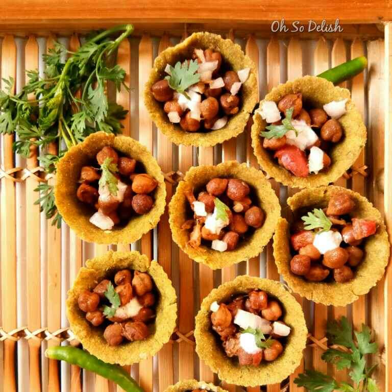 How to make Black Chickpeas Spinach Tartlets