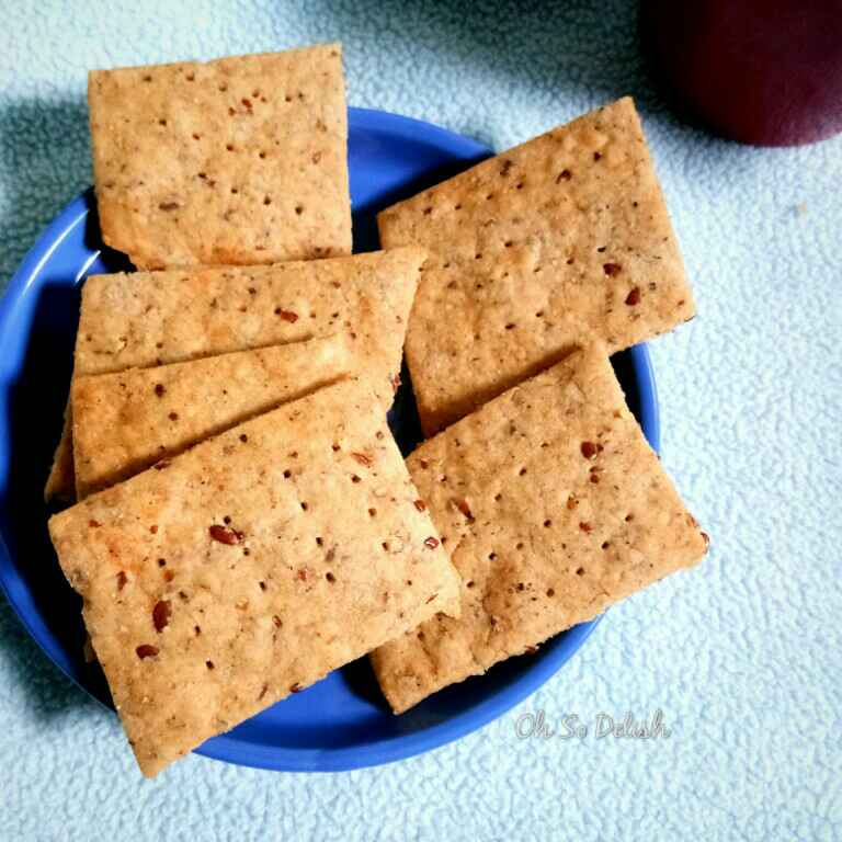 Photo of Wheat and flax seeds cheese crackers by Priyanjali Joardar at BetterButter