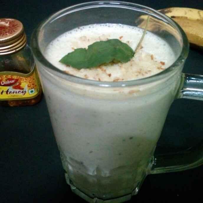 Photo of Banana-basil Smoothie by Priyanka Bapardekar at BetterButter