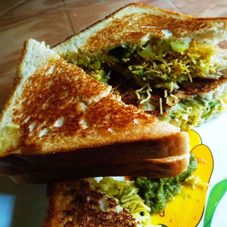 How to make ঝুরি ভাজা স্যান্ডউইচ