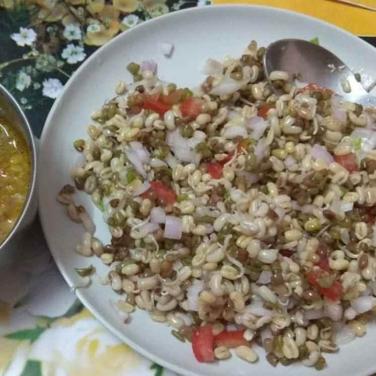 How to make मटकी सलाड