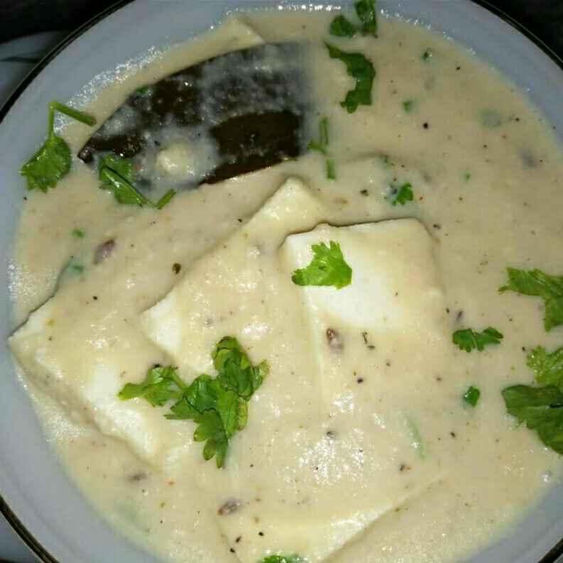 How to make White gravy paneer