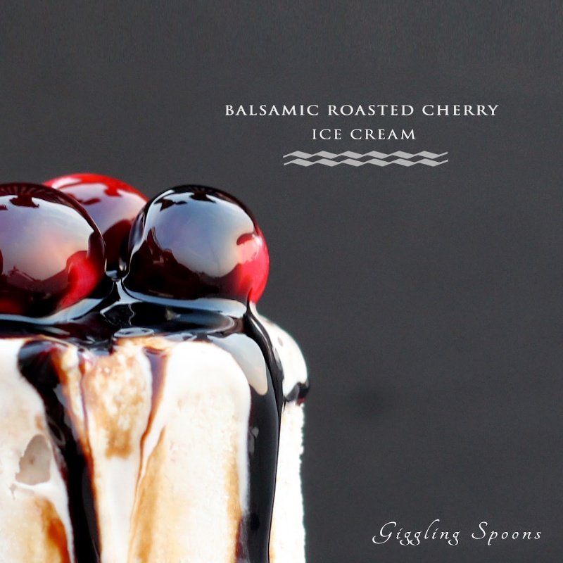 How to make Balsamic Roasted Cherry Ice Cream