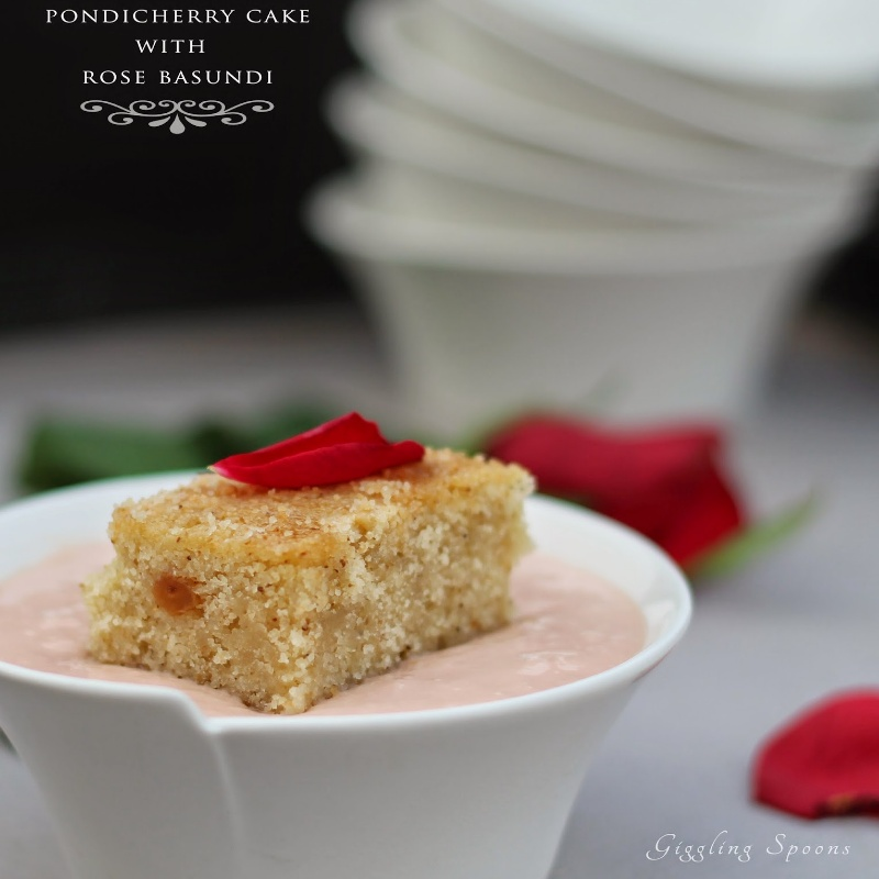 How to make Pondicherry Cake with Rose Basundi