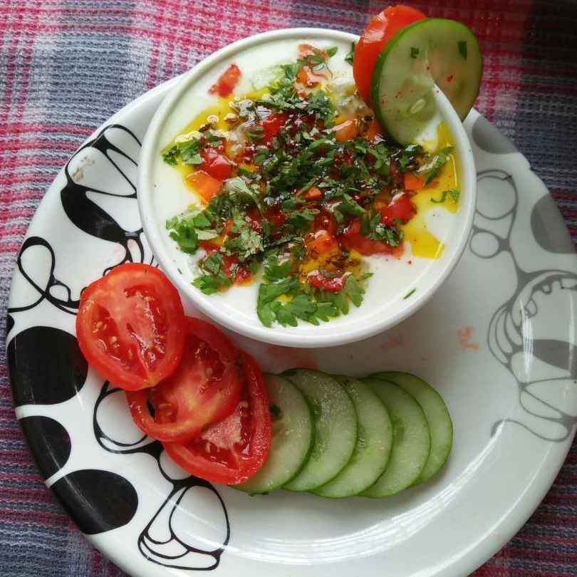 Photo of Dahi kachumar ( veg rayta ) by Uma Purohit at BetterButter