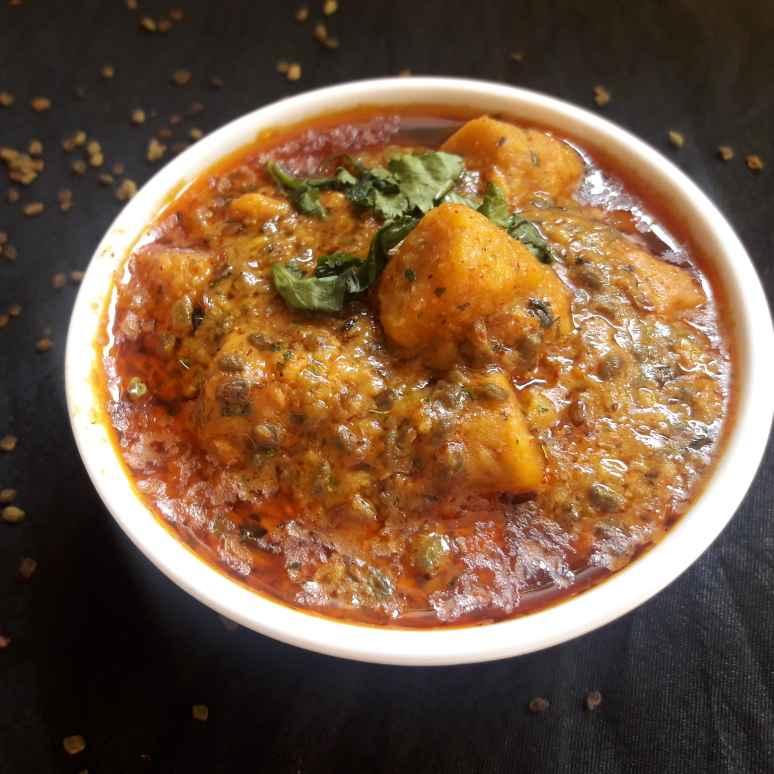 How to make Hari dana methi gatte ki sbji ( green fenugreek Gatta recipe)