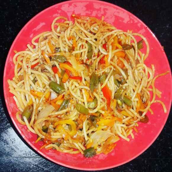 Photo of Vegetable Spaghetti. by Priyanka Nandi Sarkar at BetterButter