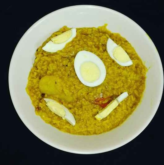 How to make Egg khichuri.