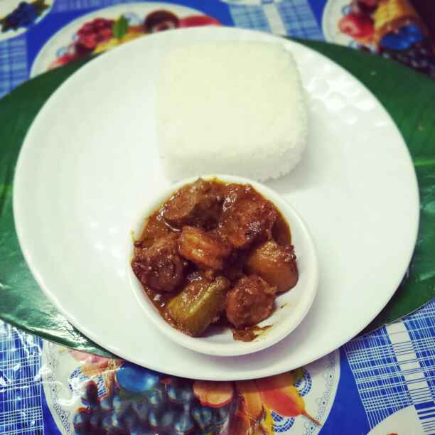 Photo of Prwn curry with potato parwal. by Priyanka Nandi at BetterButter