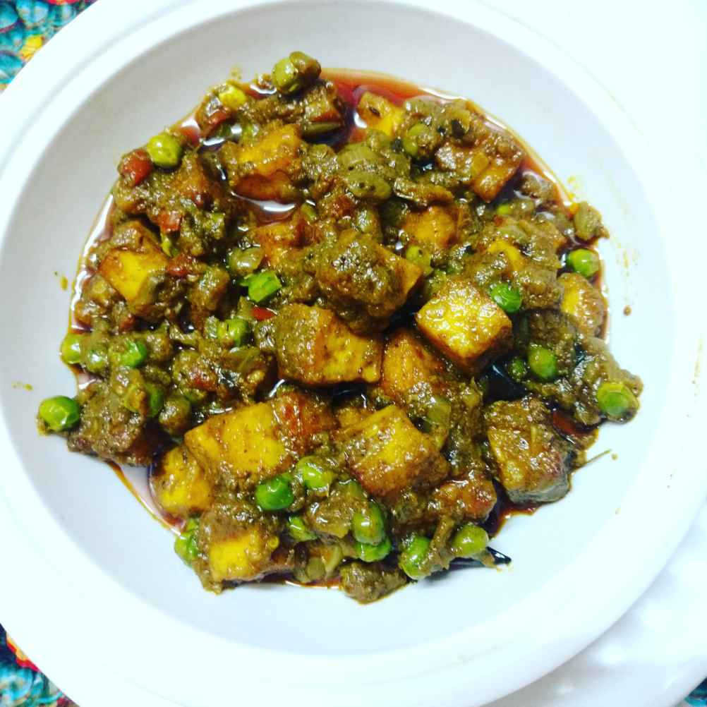 Photo of Matar paneer. by Priyanka Nandi at BetterButter