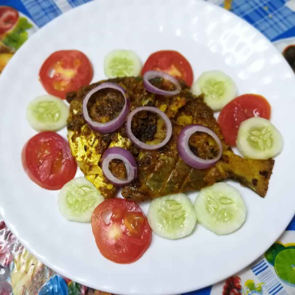 How to make Masala pomfret fry.