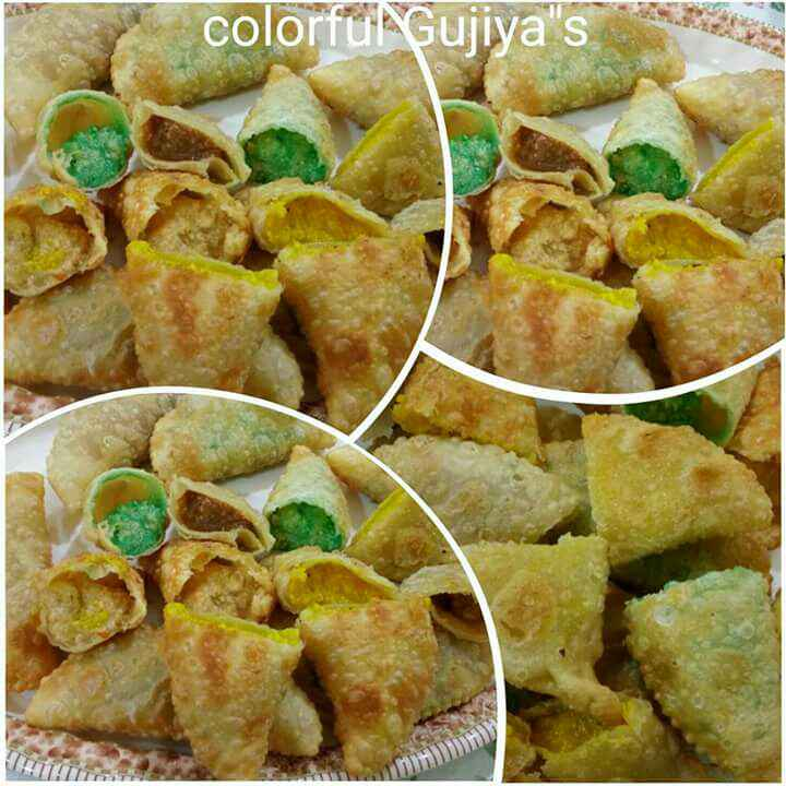 How to make Colorful Gujiyas
