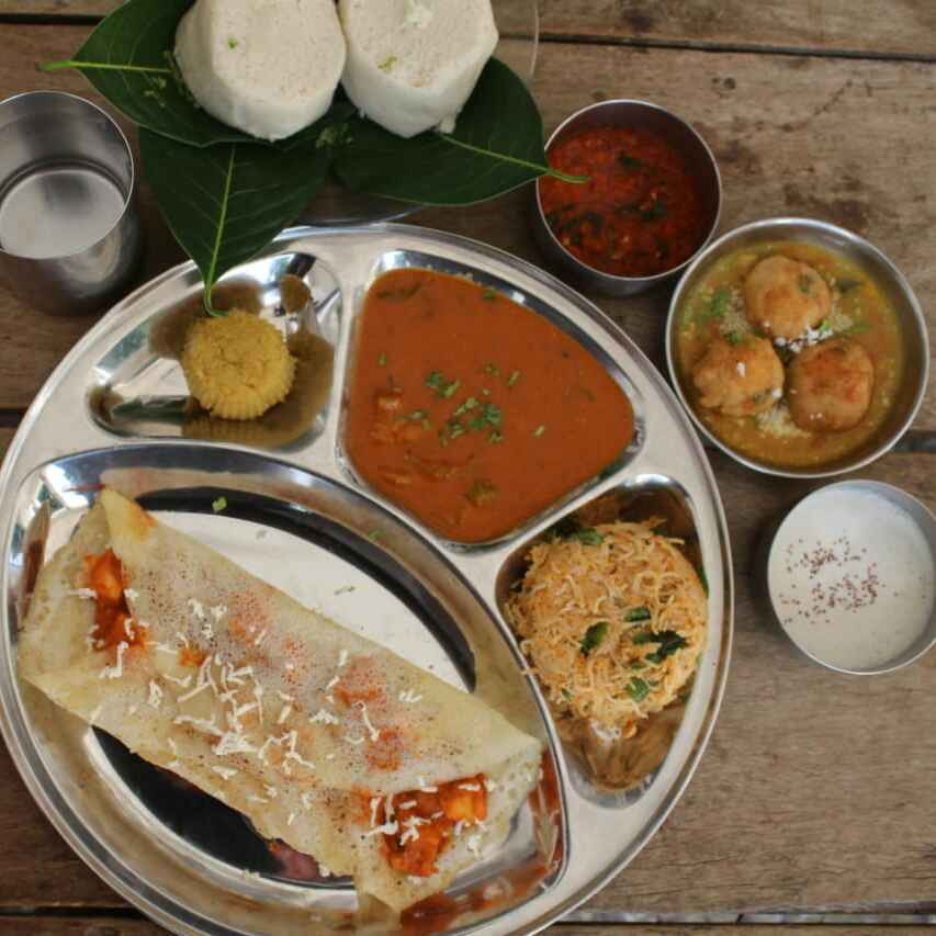 Photo of Unique South Indian dinner thali by Pinky Srini at BetterButter