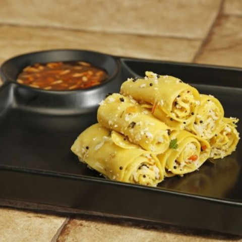 Photo of Low cal Khandvi by Bindiya Sharma at BetterButter