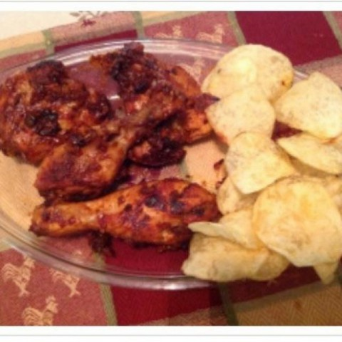 Photo of Fried saucy chicken with potato crisps by usha balagopal at BetterButter