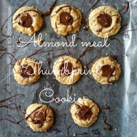 How to make Almond Meal Thumbprint Cookies