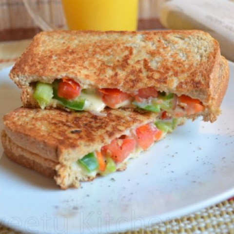 How to make Mixed Vegetable and Cheese Sandwich